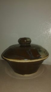 Mid size, wheel thrown, casserole dish