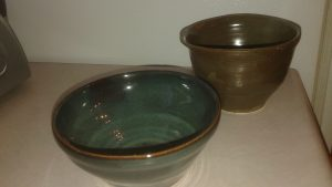 Cereal bowls- Brown bowl in rear is gone.