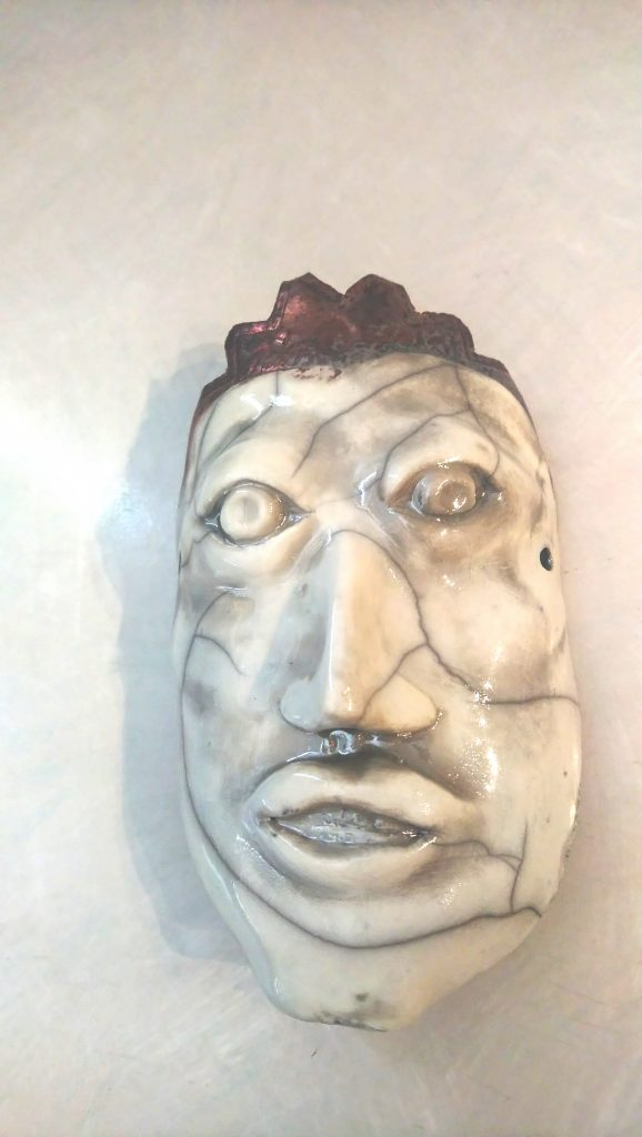 The Prince of Port Weller, Hand built wall mask