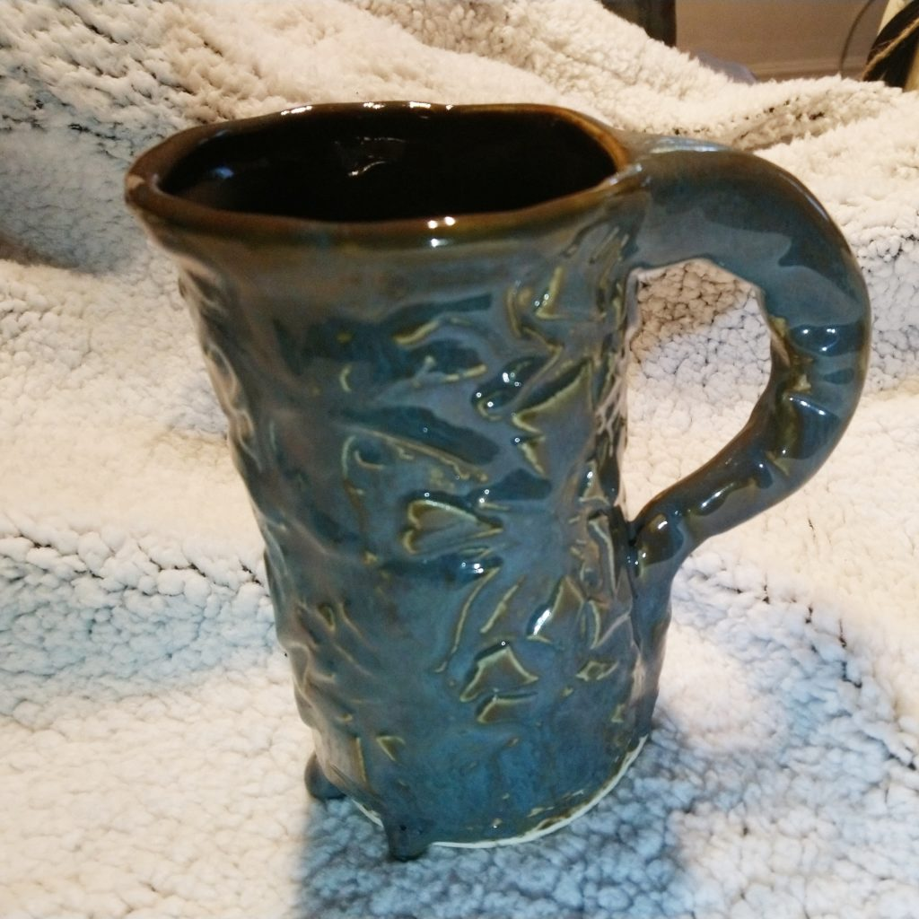 Stein with texture and drips