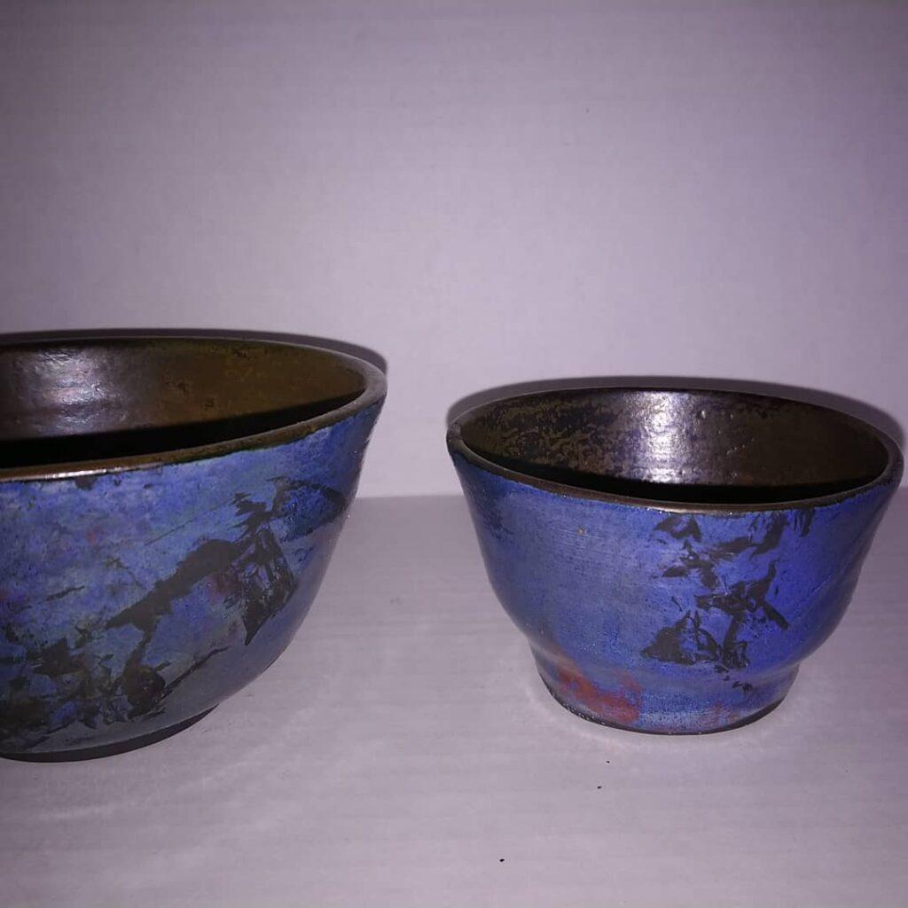 Blue nesting Rice bowls