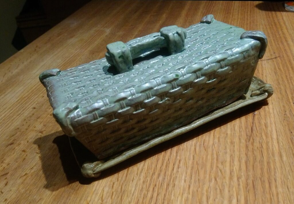 Basket butter dish