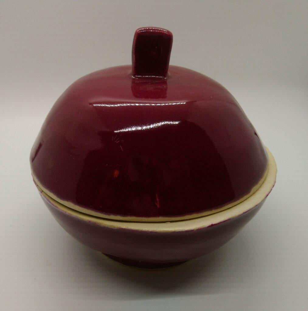 Burgundy Covered Dish Glazed