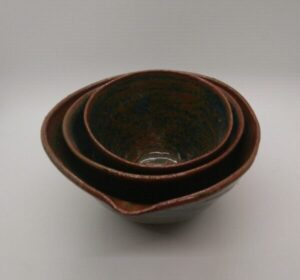 Stacking Stoneware Bowl Set (3)