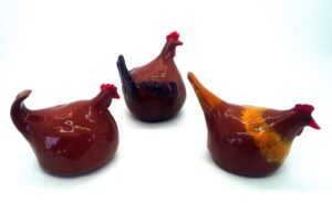 Earthenware Chickens